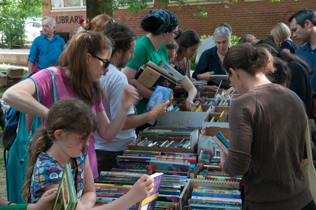 Library Book Sale, spring 2015